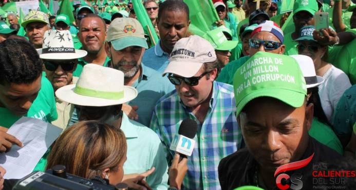 PRM expresa satisfacción por apoyo de ciudadanos a Marcha Verde