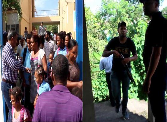 Despachan estudiantes de escuela por intercambio de disparos entre DNCD y dueno de punto de drogas