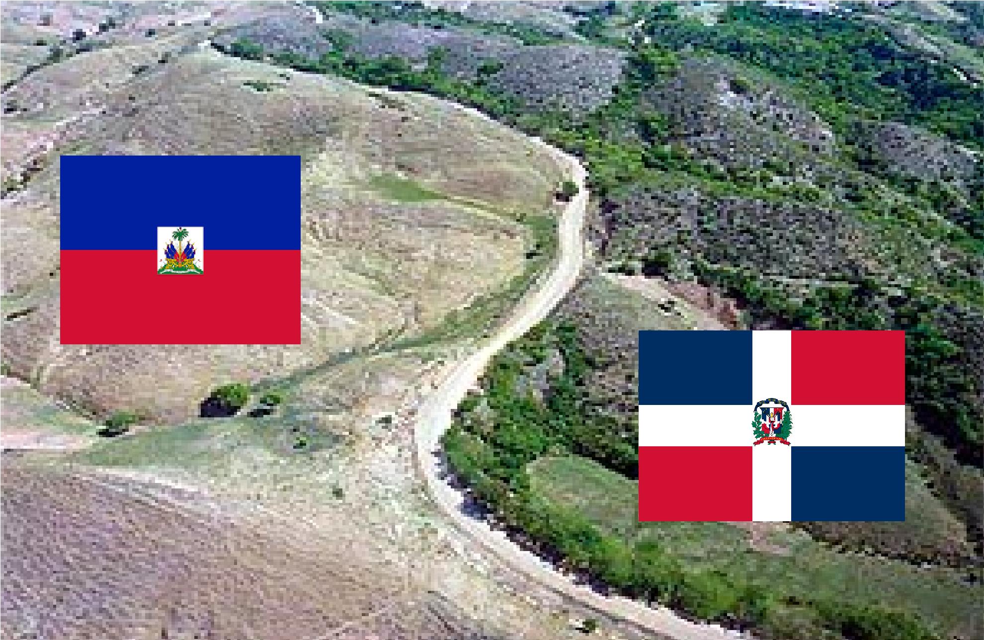 Image result for imagen de muro entre haiti y republica dominicana