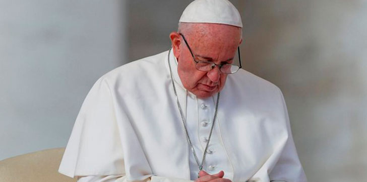 El papa pide que se respeten los derechos humanos