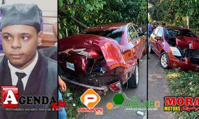 Abogado familia Emely sufre aparatoso accidente