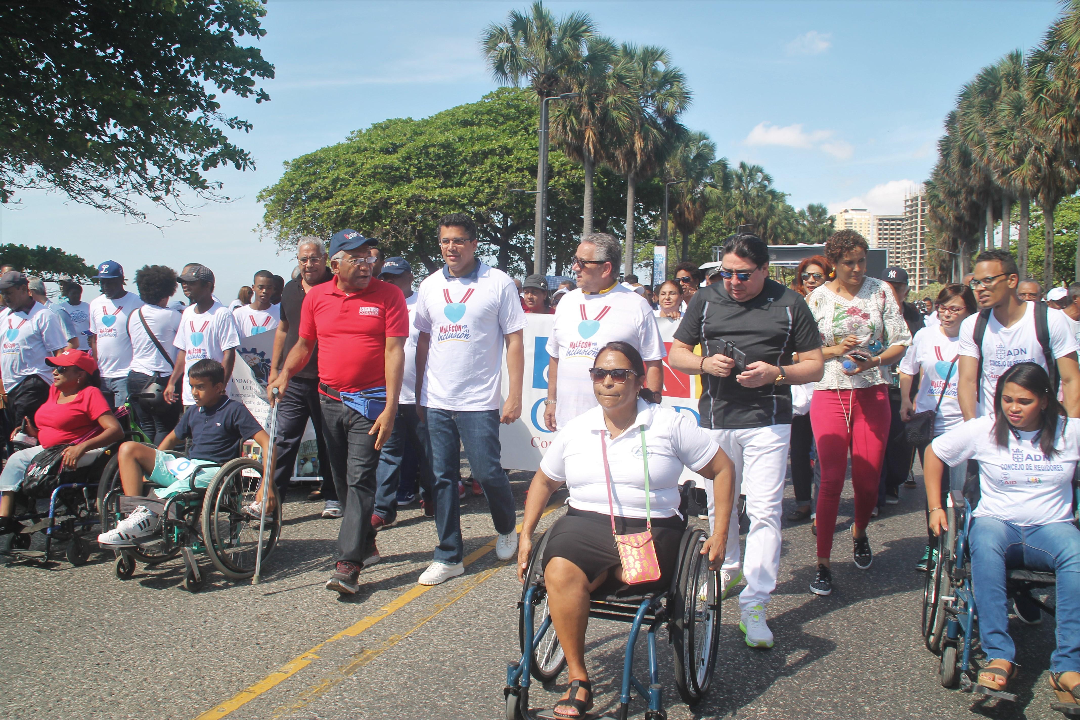 Alcaldía del Distrito Nacional y organizaciones se unen en el Malecón por la Inclusión.