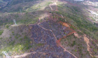 Ministro Medio Ambiente califica de acto criminal incendio en Loma Guaigüí en La Vega