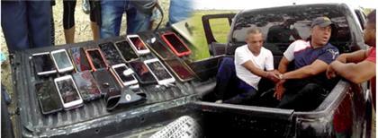 PN apresa en SFM a dos hombres con numerosos celulares robados