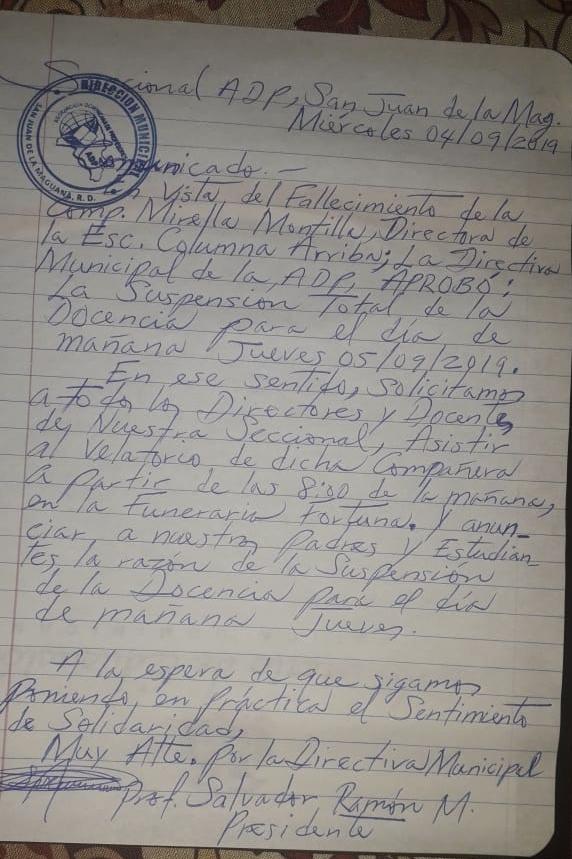 Carta ADP San Juan