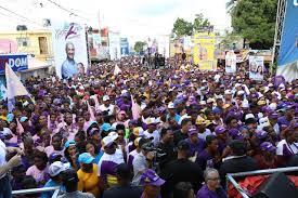 Marcha caravana del PLD encabezada por Gonzalo Castillo y Danilo Medina