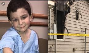 Héroe a la vista! Con solo cinco años sacó a su hermanita y al perro de la casa que se incendiaba