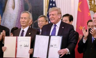 La primera fase del pacto comercial EEUU-China comienza con dudas por virus